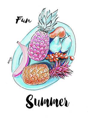 Thomas Kinkade - Fun Summer by Viktoryia Lavtsevich