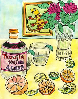 Fun Time With Tequila And Citrus Original by Jenya Katsnelson