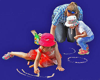 Photograph - Fun With Chalk by Ian  MacDonald