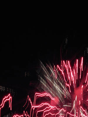 Photograph - Fun With Fireworks 1 by Mary Bedy