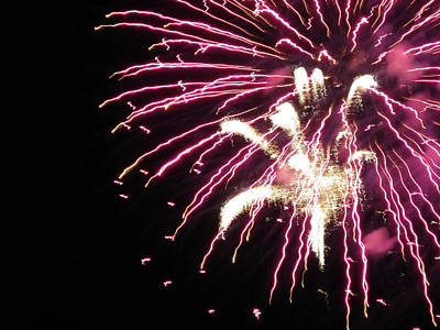 Photograph - Fun With Fireworks 10 by Mary Bedy