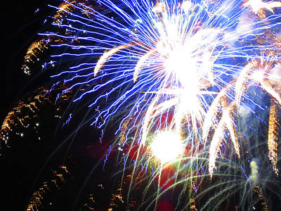 Photograph - Fun With Fireworks 12 by Mary Bedy