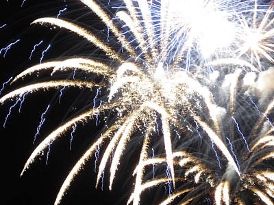 Photograph - Fun With Fireworks 13 by Mary Bedy