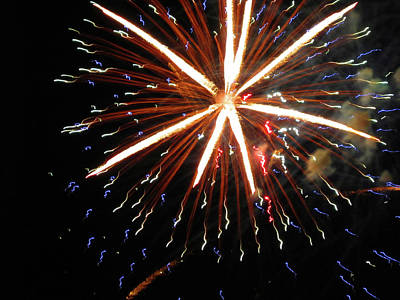 Photograph - Fun With Fireworks 15 by Mary Bedy