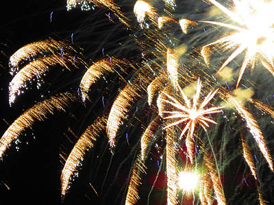 Photograph - Fun With Fireworks 16 by Mary Bedy