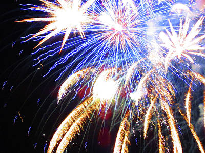 Photograph - Fun With Fireworks 17 by Mary Bedy