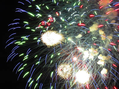Photograph - Fun With Fireworks 18 by Mary Bedy