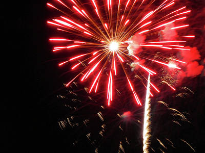 Photograph - Fun With Fireworks 19 by Mary Bedy