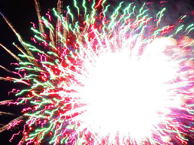 Photograph - Fun With Fireworks 20 by Mary Bedy