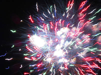 Photograph - Fun With Fireworks 21 by Mary Bedy