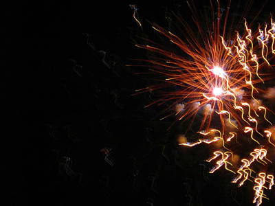 Photograph - Fun With Fireworks 22 by Mary Bedy