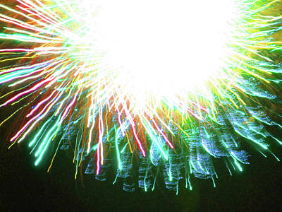 Photograph - Fun With Fireworks 25 by Mary Bedy