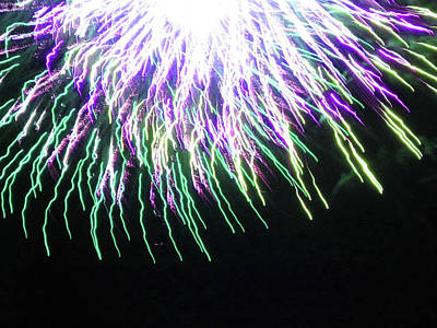 Photograph - Fun With Fireworks 26 by Mary Bedy