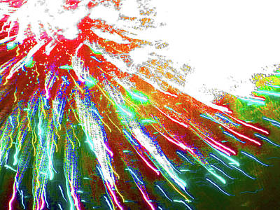 Photograph - Fun With Fireworks 28 by Mary Bedy
