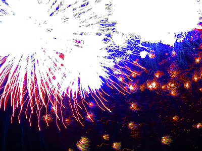 Photograph - Fun With Fireworks 29 by Mary Bedy