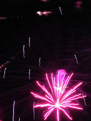 Photograph - Fun With Fireworks 3 by Mary Bedy