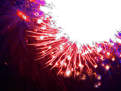 Photograph - Fun With Fireworks 30 by Mary Bedy