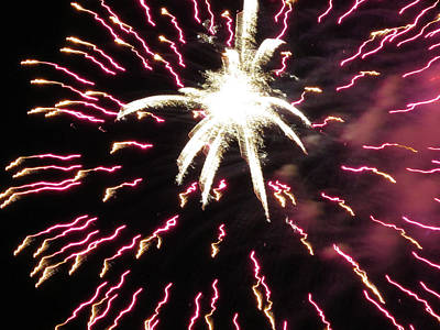 Photograph - Fun With Fireworks 5 by Mary Bedy