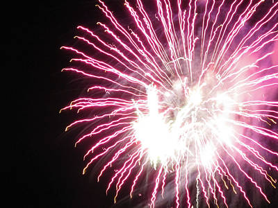 Photograph - Fun With Fireworks 6 by Mary Bedy