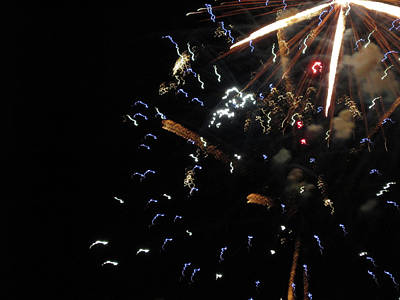 Photograph - Fun With Fireworks 7 by Mary Bedy