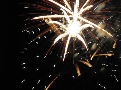 Photograph - Fun With Fireworks 8 by Mary Bedy