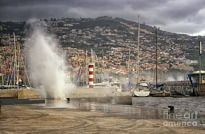Photograph - Funchal Harbor Madeira by Lynn Bolt
