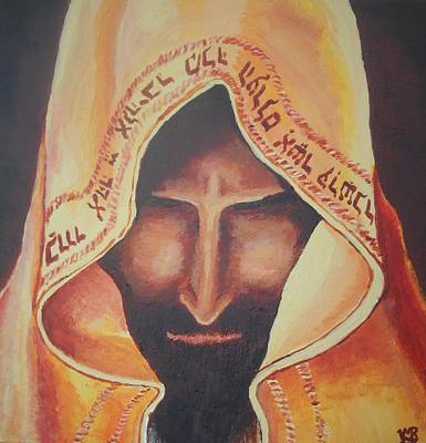 Fundraise Series 3 Praying Jew Art Print by Kerstin Berthold