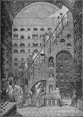 Drawing - Funeral At Caesar's Palace, C.1894. by Granger
