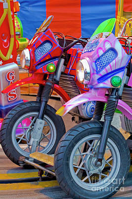 Photograph - Funfair Bikes by Terri Waters