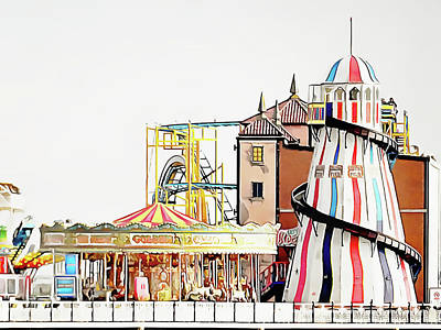 Photograph - Funfair On Brighton Pier by Dorothy Berry-Lound