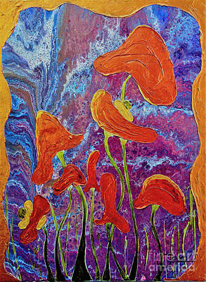 Painting - Fungi Fun by Jolanta Anna Karolska