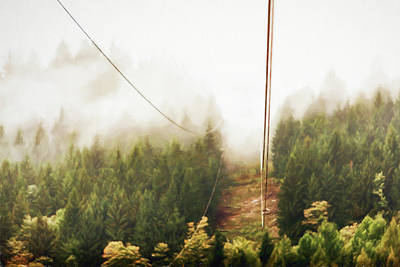 Photograph - Funicolare View Of Foggy Forest In Alps by Susan Schmitz