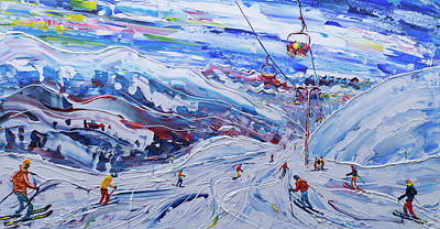 Painting - Funitel Peclet And Stades Chair by Pete Caswell