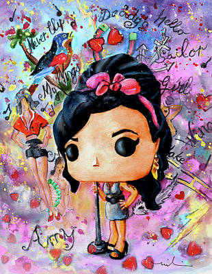 Painting - Funko Amy Winehouse by Miki De Goodaboom