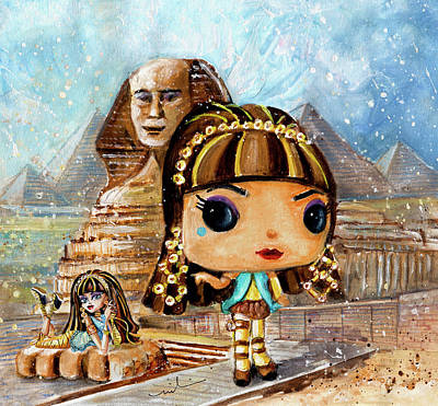 Painting - Funko Cleo by Miki De Goodaboom