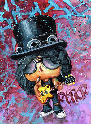 Painting - Funko Slash by Miki De Goodaboom