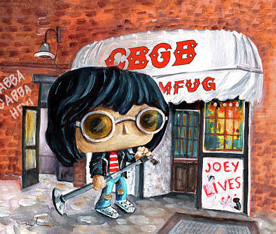 Painting - Funko Joey Ramone At Cbgb by Miki De Goodaboom