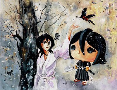 Painting - Funko Rukia Kuchiki by Miki De Goodaboom