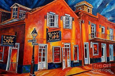French Quarter Painting - Funky 544 - New Orleans by Diane Millsap