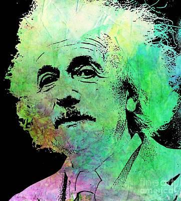 Molecule Painting - Funky Einstein  by John Malone