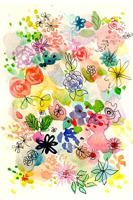 Painting - Funky Flowers by Chris Hobel