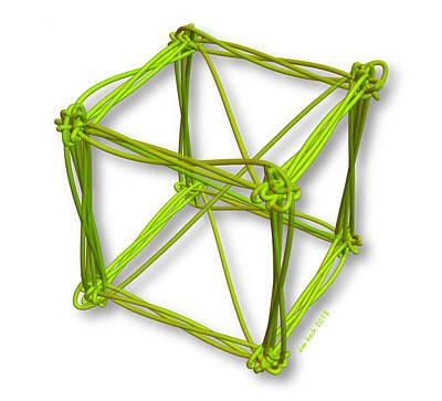 Digital Art - Sloppy Fourier Cube by Dan Bach