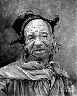 Keith Richards Royalty Free Images - Funky Hat Royalty-Free Image by Portraits By NC