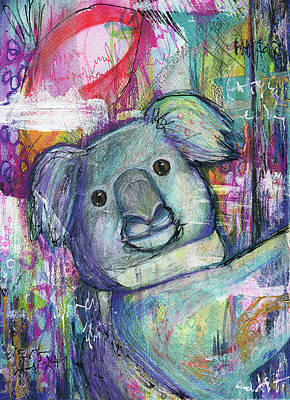 Koala Pop Art Drawing - Funky Koala by Christiana Odum