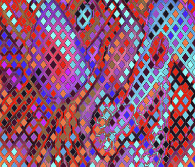 Digital Art - Funky Lattice by Vagabond Folk Art - Virginia Vivier
