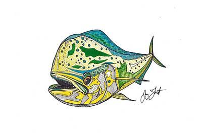 Funky Mahi Art Print by Jay Talbot