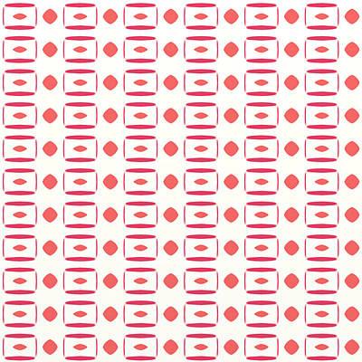 Digital Art - Funky Modern Retro Pattern by Gina Lee Manley