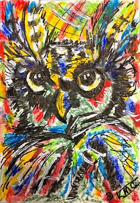 Painting - Funky Owl by Kathy Marrs Chandler