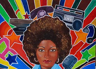 Oil Painting - Funky Pam  by Deedee Williams