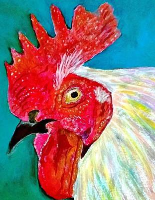 Painting - Funky Rooster by Anne Sands